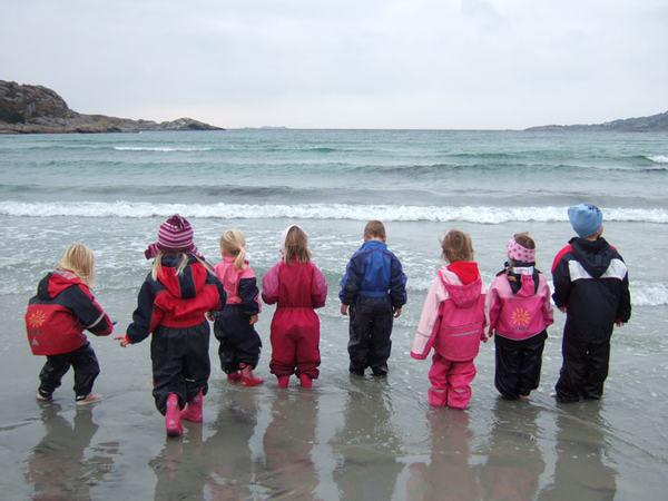 Barnehage barn, alle med. Foto: Grøne Bråden barnehage