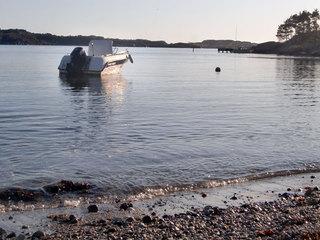 Nordre sund med Eigerøy i bakgrunnen. Tatt fra Æsand