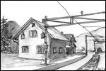 Sandermosen stasjon Tegning: Frances Dodman