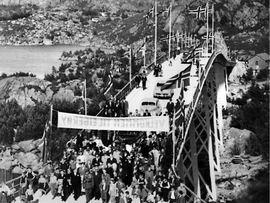 Åpningen av Eigerøy bro