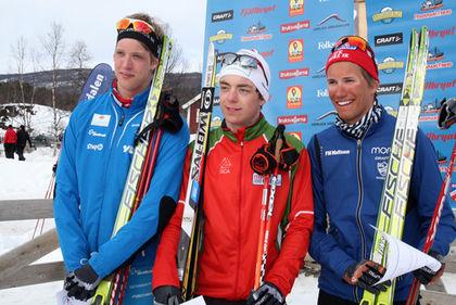 TÄTTRION I H17-18: Martin Bergström segrade före Carl Quicklund och Daniel Svensson. Foto: MOA MOLANDER KRISTIANSEN