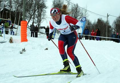 MARIA NORDSTRÖM från Gävle i klar ledning i finalen i D19-20. Foto: MOA MOLANDER KRISTIANSEN