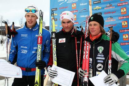 JUNIORVÄRLDSMÄSTAREN Tomas Northug vann H19-20 före Fredrik Jonsson och Gustav Eriksson. Foto: MOA MOLANDER KRISTIANSEN