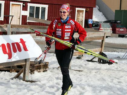 STINA NILSSON från Malung är en stor talang som vann D17-18 före Gunde och Marie Svans dotter Julia Svan. Foto: MAJA DAHLQVIST