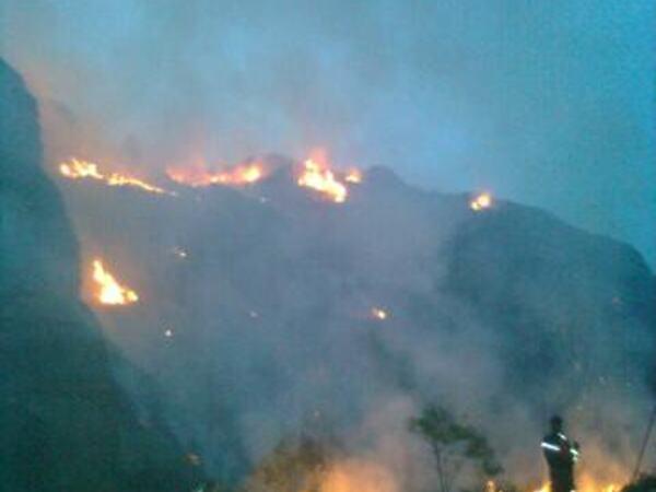 Brann ved Imeseid 8. - 9. juni 2010