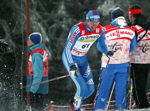 NIKOLAI PANKRATOV riskerar två års avstäning om han fälls. Här från vinterns Tour de Ski. Foto: MOA MOLANDER KRISTIANSEN