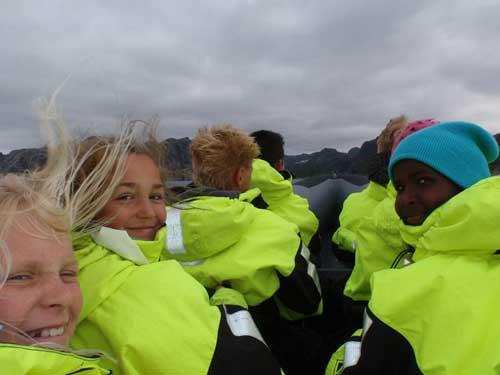 Leif på Gaudland, sommeren 2010. Rafting