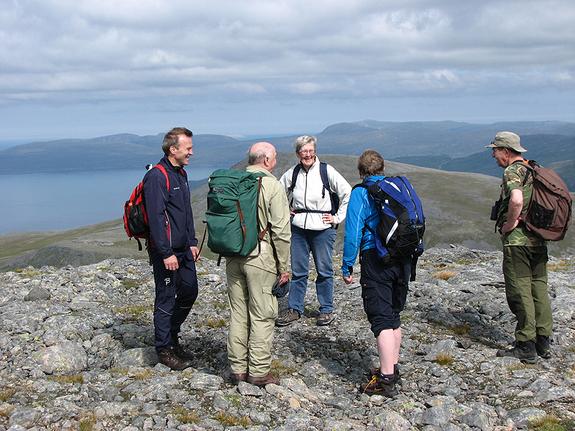 Sørøymarsj fra Bårvik over fjellet til Hasvik