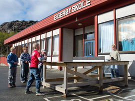 Bilde fra Eigerøy skole i Eigersund
