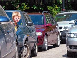 Barn i trafikken. Foto: Anders Aavik Hagen