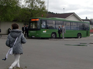 Bussholdeplassen i sentrum