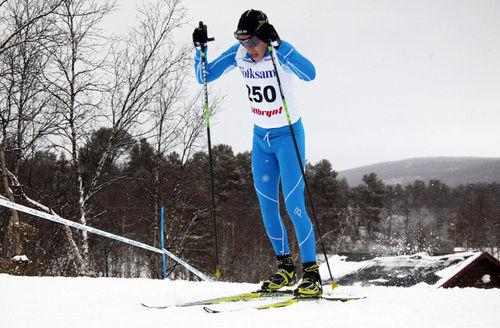 RASMUS HÖRNFELDT från Östersunds SK var överlägsen i H17-18 i Åsarnaspelen. Foto: MOA MOLANDER KRISTIANSEN