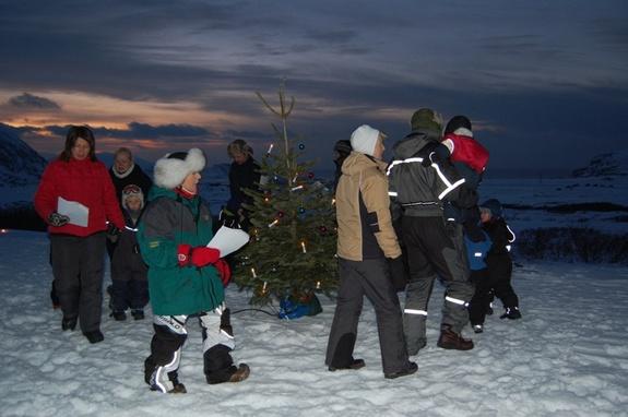 Juletrefest på Røde Kors-hytta - foto: Eva D. Husby