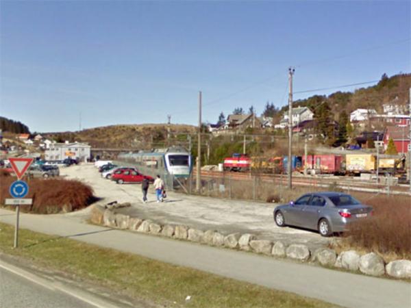 Jernbanestasjonen på Eie