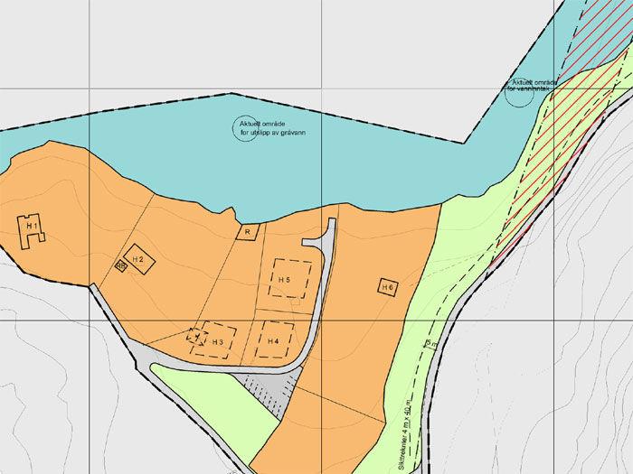 Kart over Halsen hyttefelt
