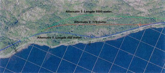 Oversikt over tunnelforslag i Gyadalen