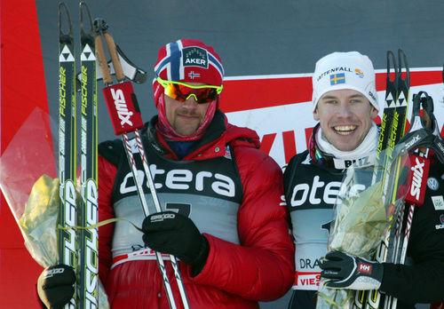 PETTER NORTHUG och Emil Jönsson möts åter igen i morgon - nu i Bysprinten i norska Mosjøen. Foto: LANGD.SE
