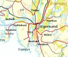 Kartbilde av Eigersund