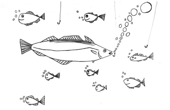 Tegnet av Benjamin Aae Christensen, 13 år