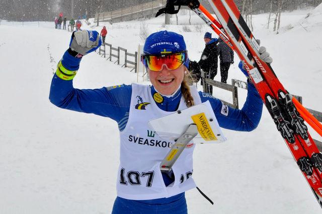 Helene Söderlund tog VM-Guld i Skidorientering 2011 och är ny i längdåkningens team 2015. Foto: Mattias Johansson