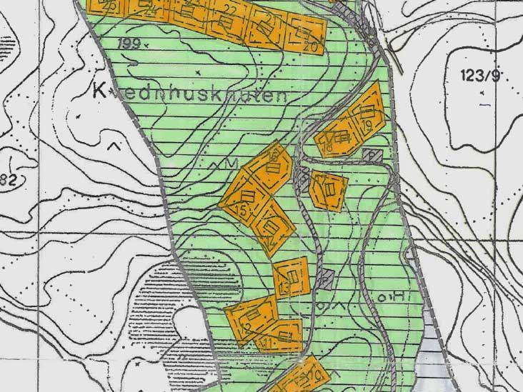 Kart over Risvik hyttefelt