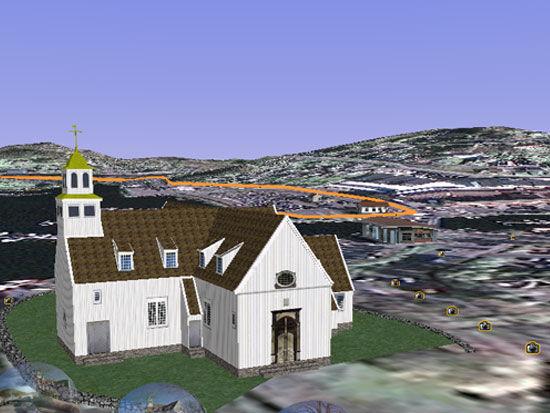 Egersund kirke i 3D