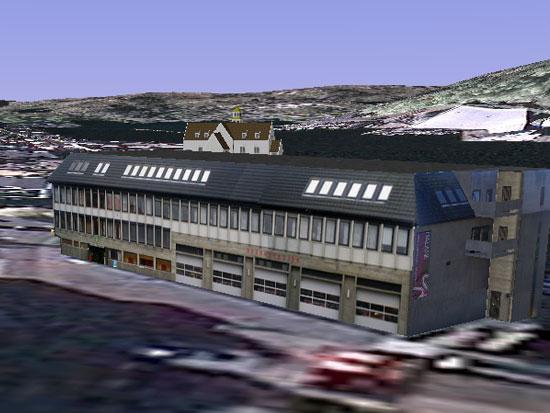 Eigersund rådhus i 3D