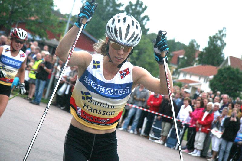 Sandra Hansson i aktion. Foto: Per Frost