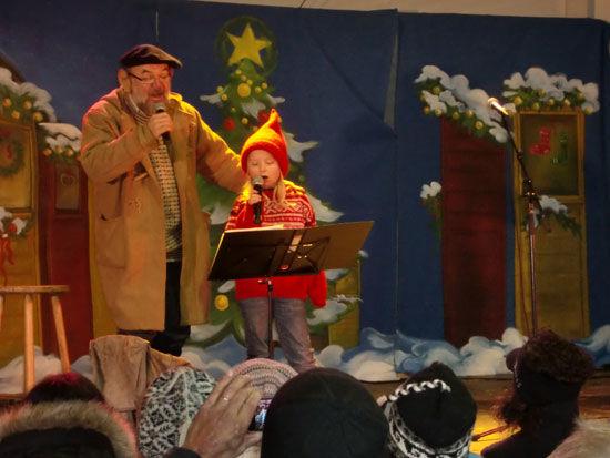 Konsert i julebyen. Foto: Sem Hadland