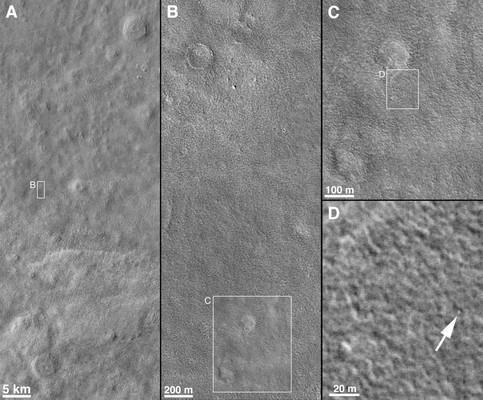 Bilde av landingsplassen til Viking 2