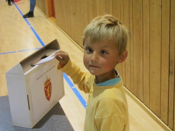 Skolevalg ved Breivikbotn skole
