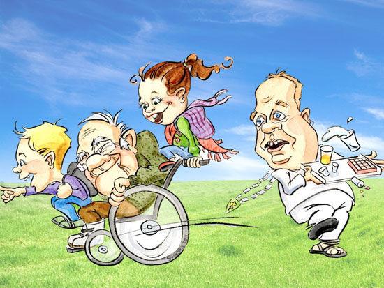 Karikatur av Eigersunds ordfører