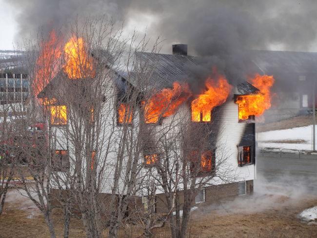 Bildet er fra en brannøvelse i 2010, Bersvendsengården