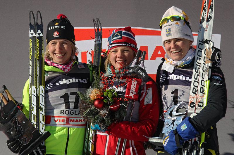 Chandra Crawfoord, Maiken Caspersen Falla och Ida Ingemarsdotter. Foto: NordicFocus