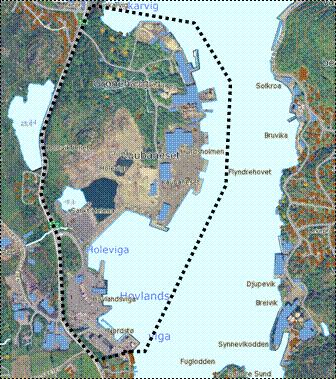 Kaupanesområdet - kart