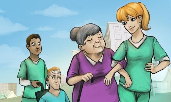Illustrasjon - rekrutteringskampanje helsefag