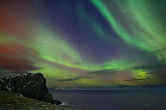 Nordlys over Sørøya 24.1.12 - copyright Anne Olsen-Ryum