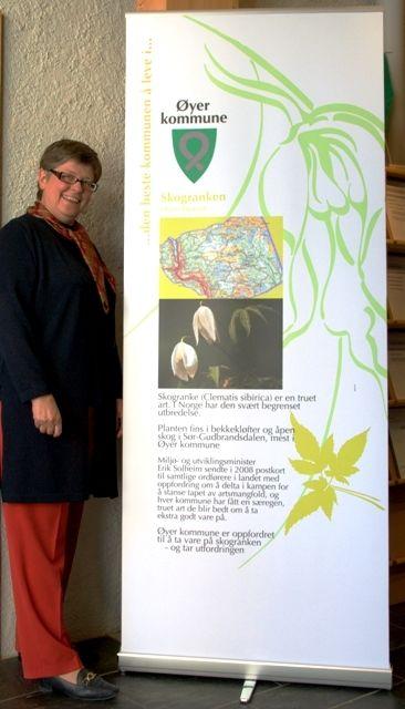 Ordfører Mari Botterud med skogranke