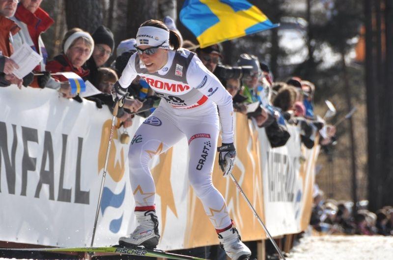 Charlotte Kalla i Svenska Skidspelen. Foto: Per Frost