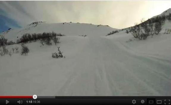 Hasvik kommune - Rivaren - Deler av snøscooterløype 1