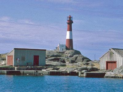 Eigerøy fyr fra sjøen