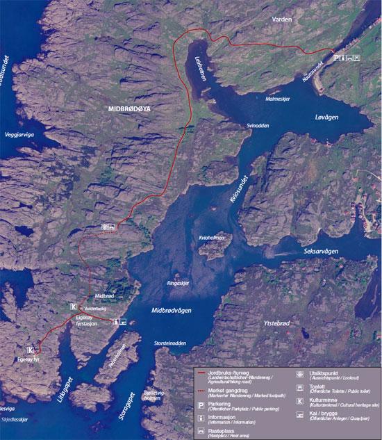 Kart over Eigerøy fyr