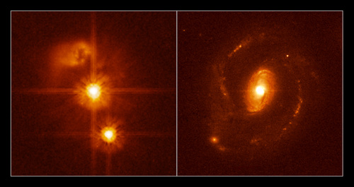 Kvasar Hubble VLT
