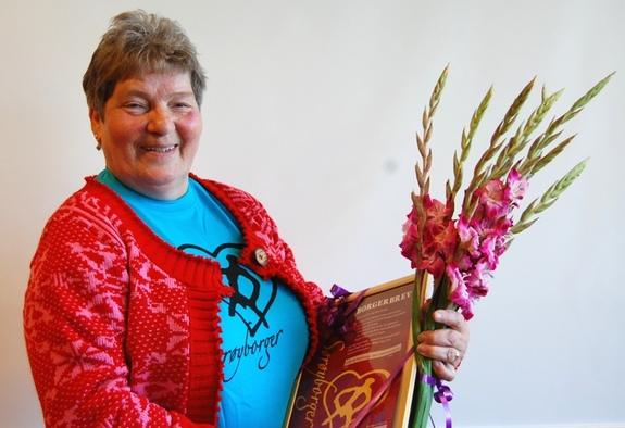 Årets Sørøyborger 2012 er Elly Pedersen - foto: Eva D. Husby