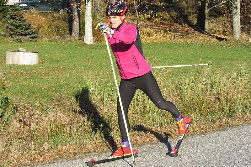 Catarina Henriksson ger nya Vasaloppsåkare tips om träning. FOTO: Träningsinspiratören.