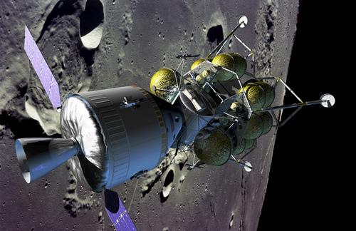 Det nye romfartøyet i bane rundt Månen
