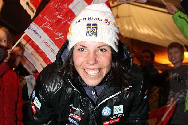 Craft har förlängt sitt kontrakt med Charlotte Kalla för de kommande fyra åren. FOTO: NordicFocus.