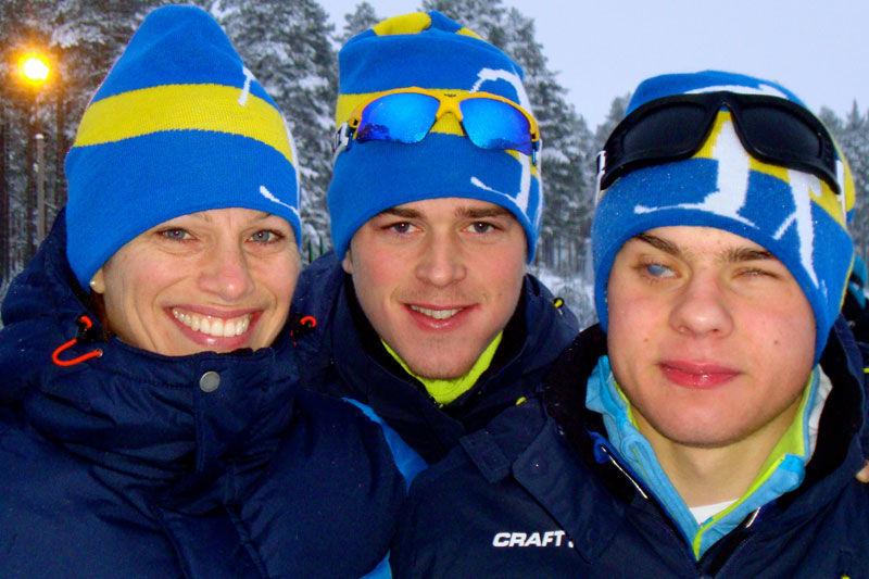 Guld i Vuokatti för Helene Ripa, Albin Ackerot (ledsagare) och Zebastian Modin.