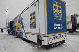 Blir den en vallalastbil utan fluorvalla i vinter? FOTO: Svenska skidförbundet.