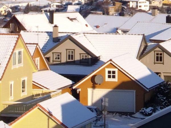 Hustak på vinteren